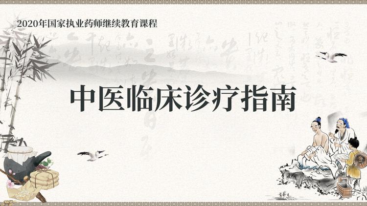 中医临床诊疗指南