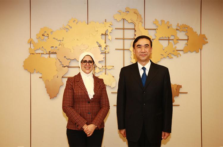 李斌副主任会见埃及总统特使、卫生和人口部部长哈莱